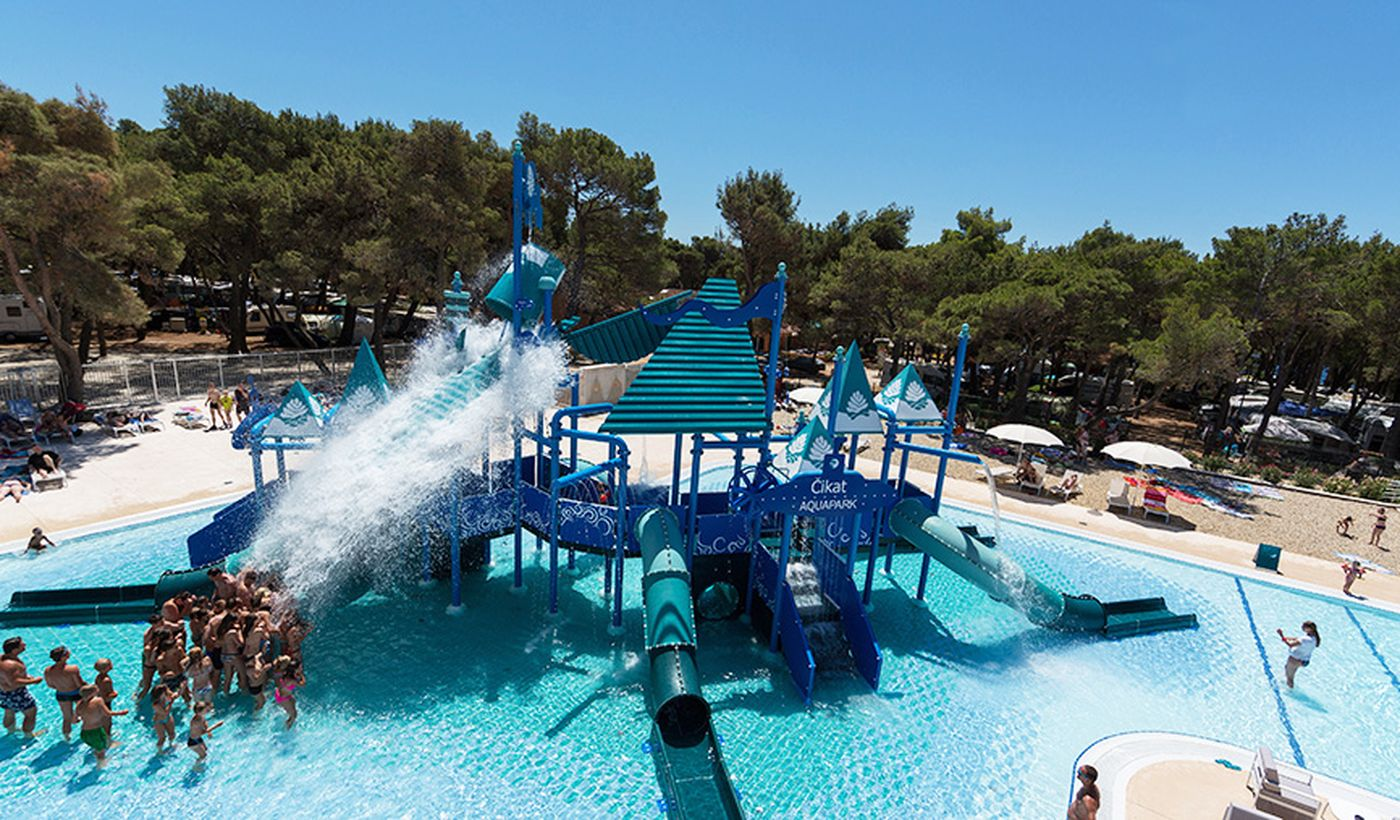 Campeggio con piscina in Croazia