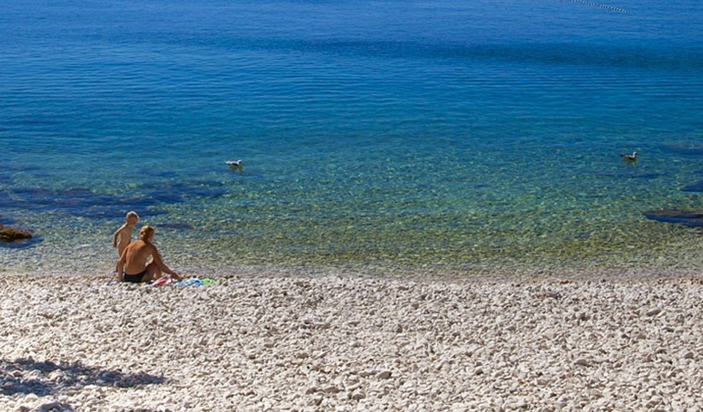 Spiaggia del Camping Cikat, Croazia