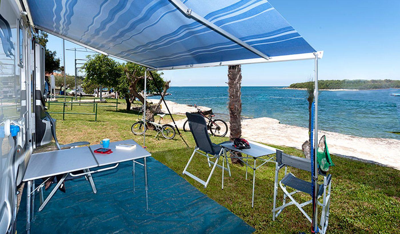 Campeggio sul mare in Croazia