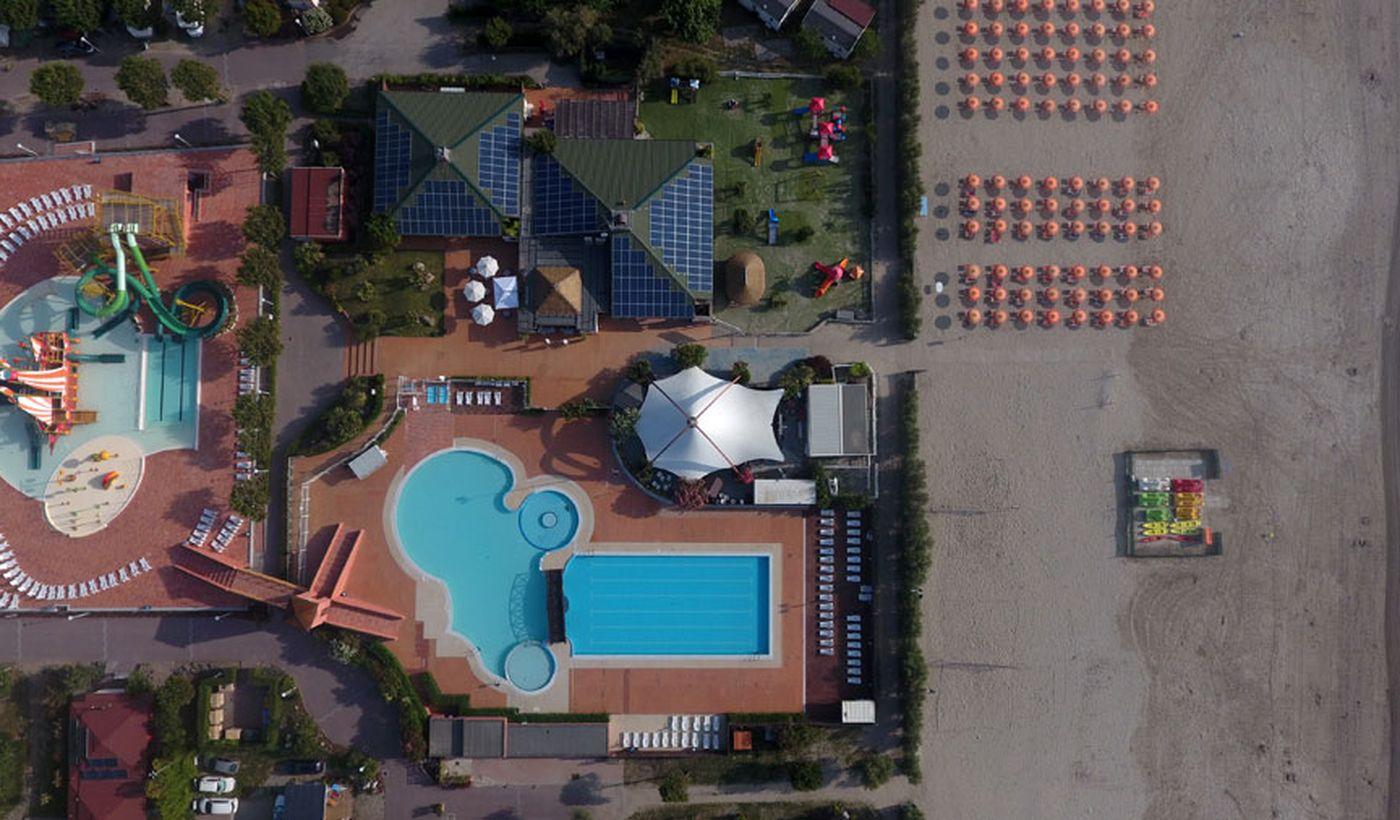 Le piscine del campeggio