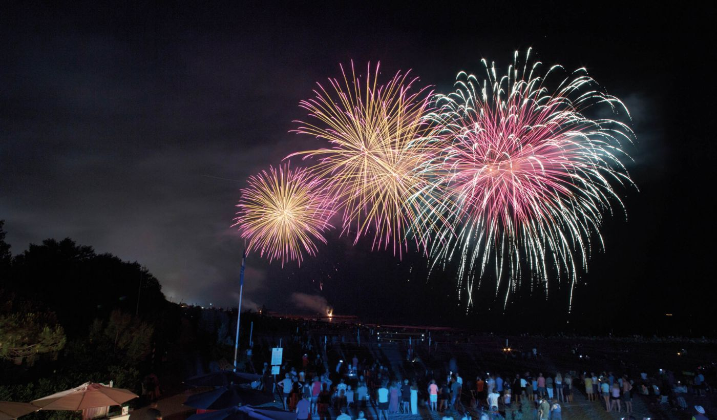 Fuochi d'artificio al Camping Union Lido Park & Resort