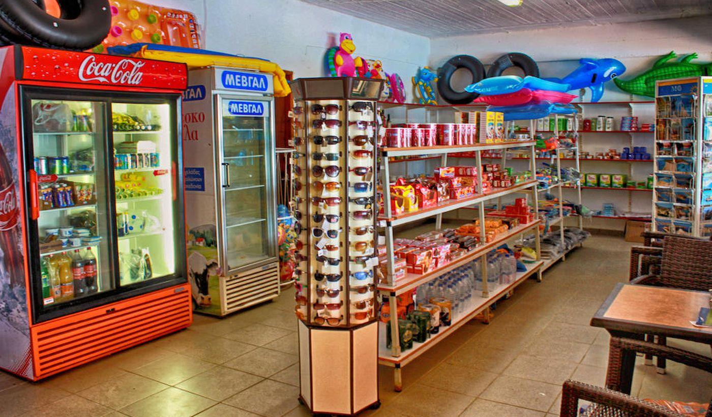 Minimarket del camping Nopigia