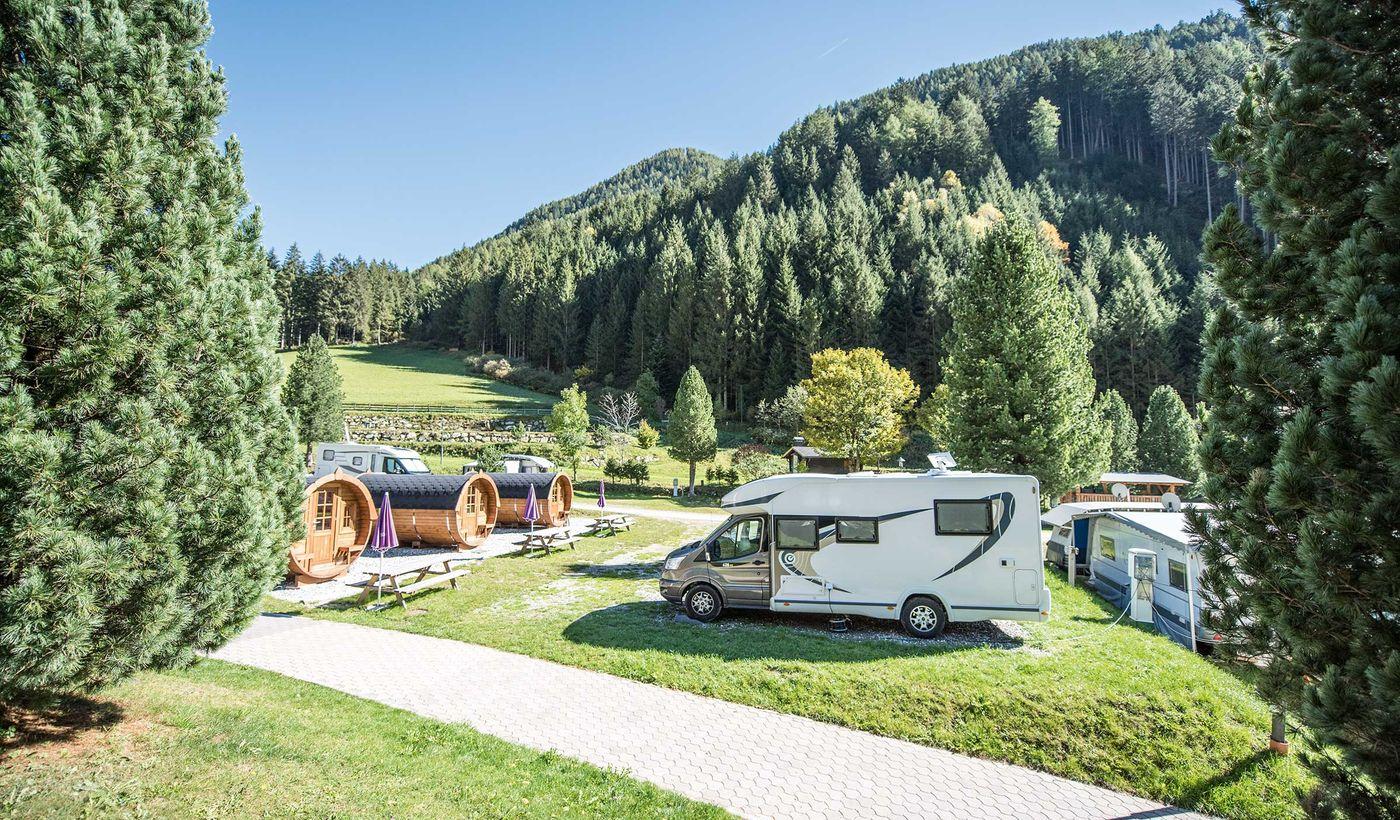 Camping in Anterselva, Trentino Alto Adige