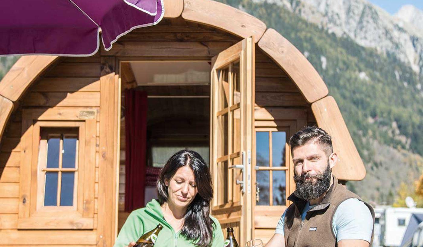 Camping con Botti di Legno in Trentino Alto Adige