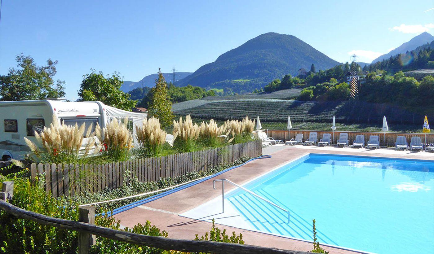 Camping mit Schwimmbad in Trentino Alto Adige