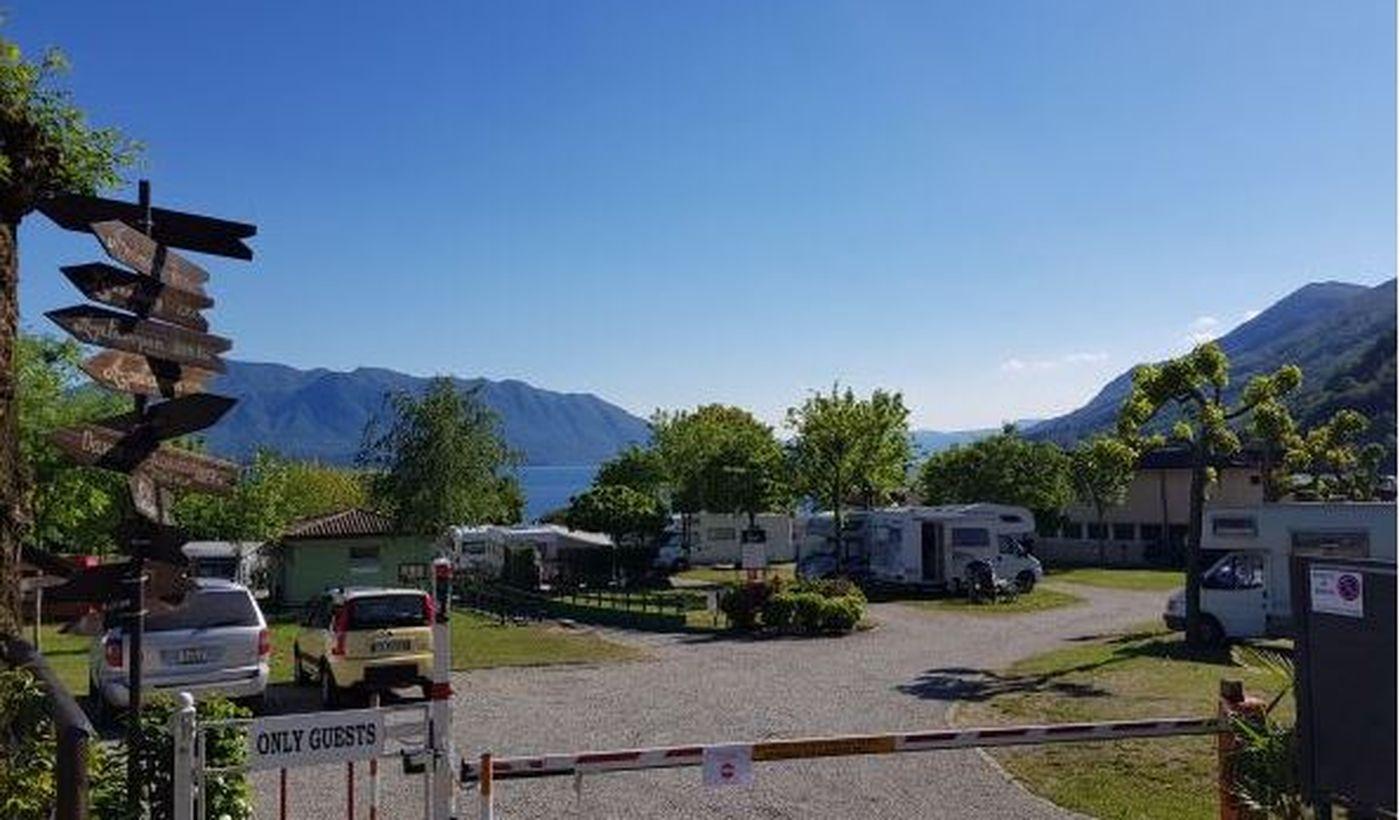 Campingplatz mit Camper Stop Area am Lago Maggiore
