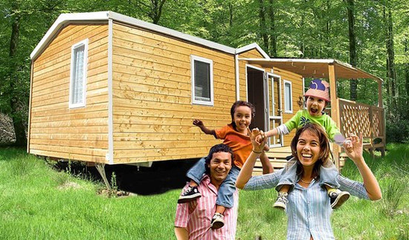 "Le mobil-home ""CHALET"" du camping"