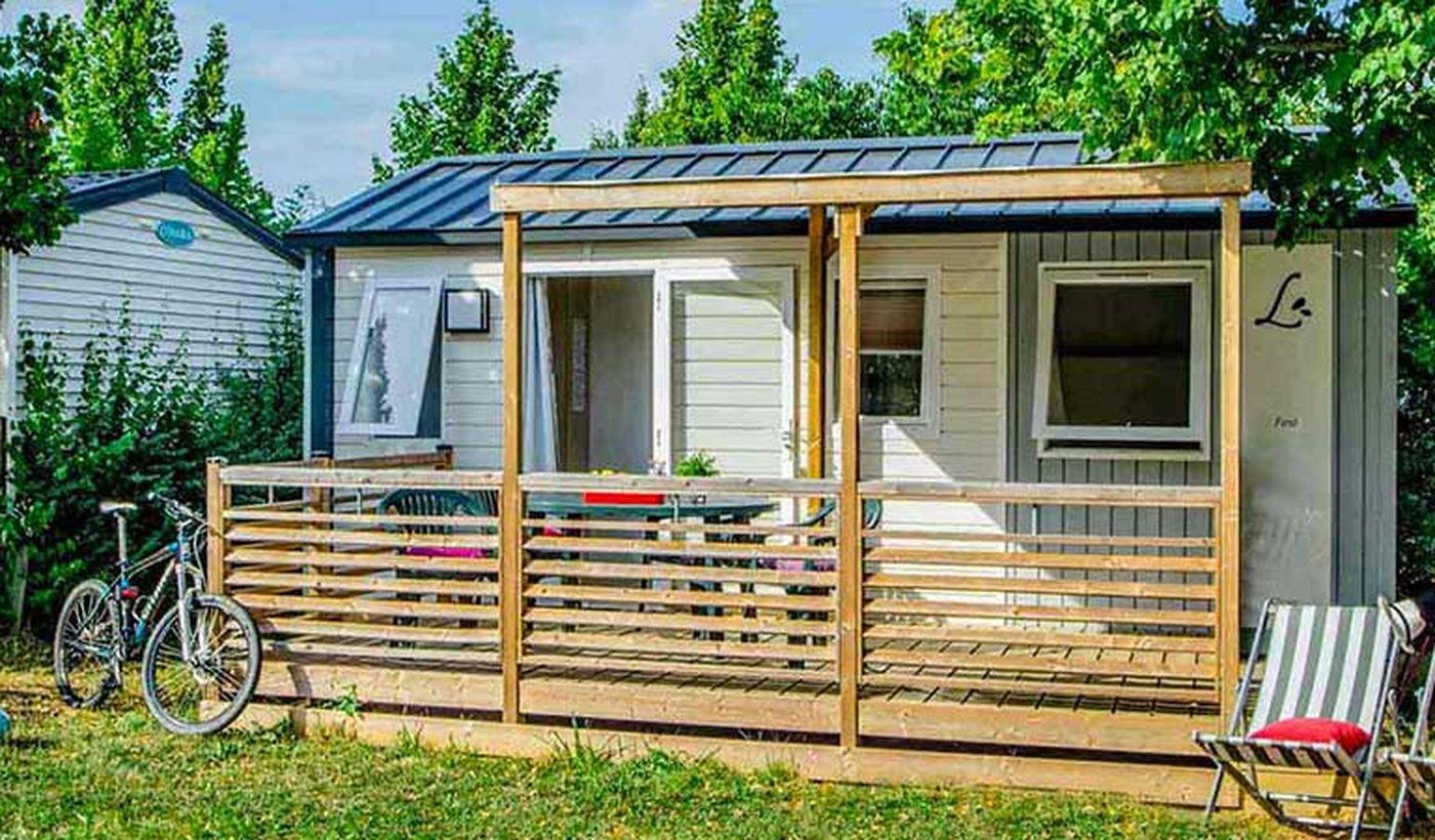 Location de mobil-home 22M² Aveyron du camping La Grange de Monteillac