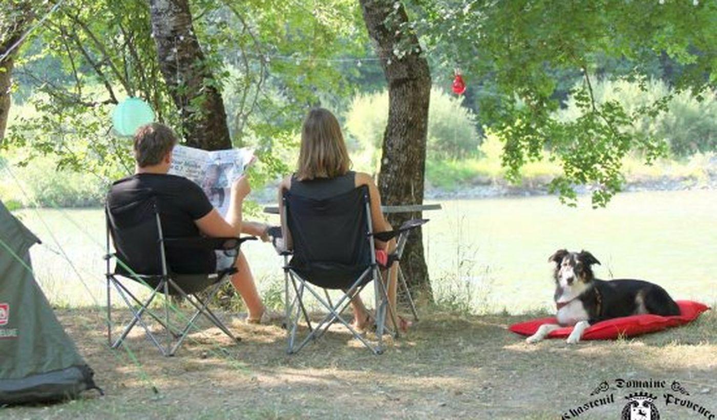 La tranquillité du Camping Chasteuil Provence
