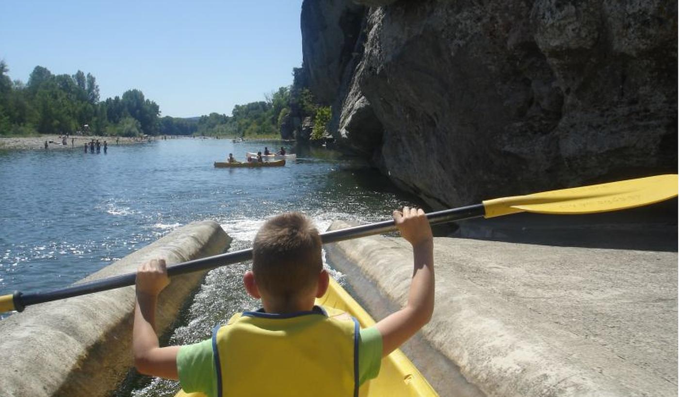 Canoe et kayak sur l'ardèche