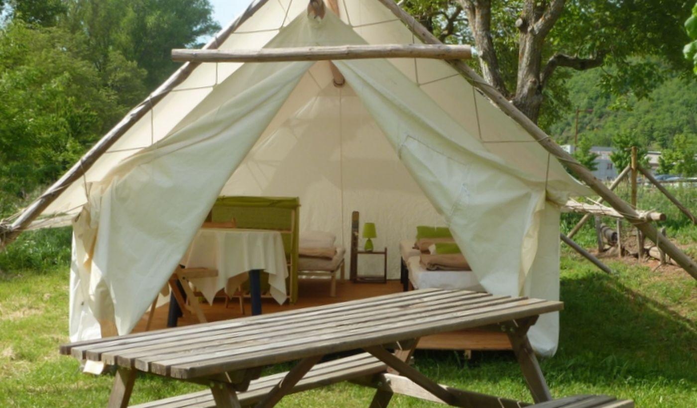 Tente Trappeur du Camping Le Val des Cévennes