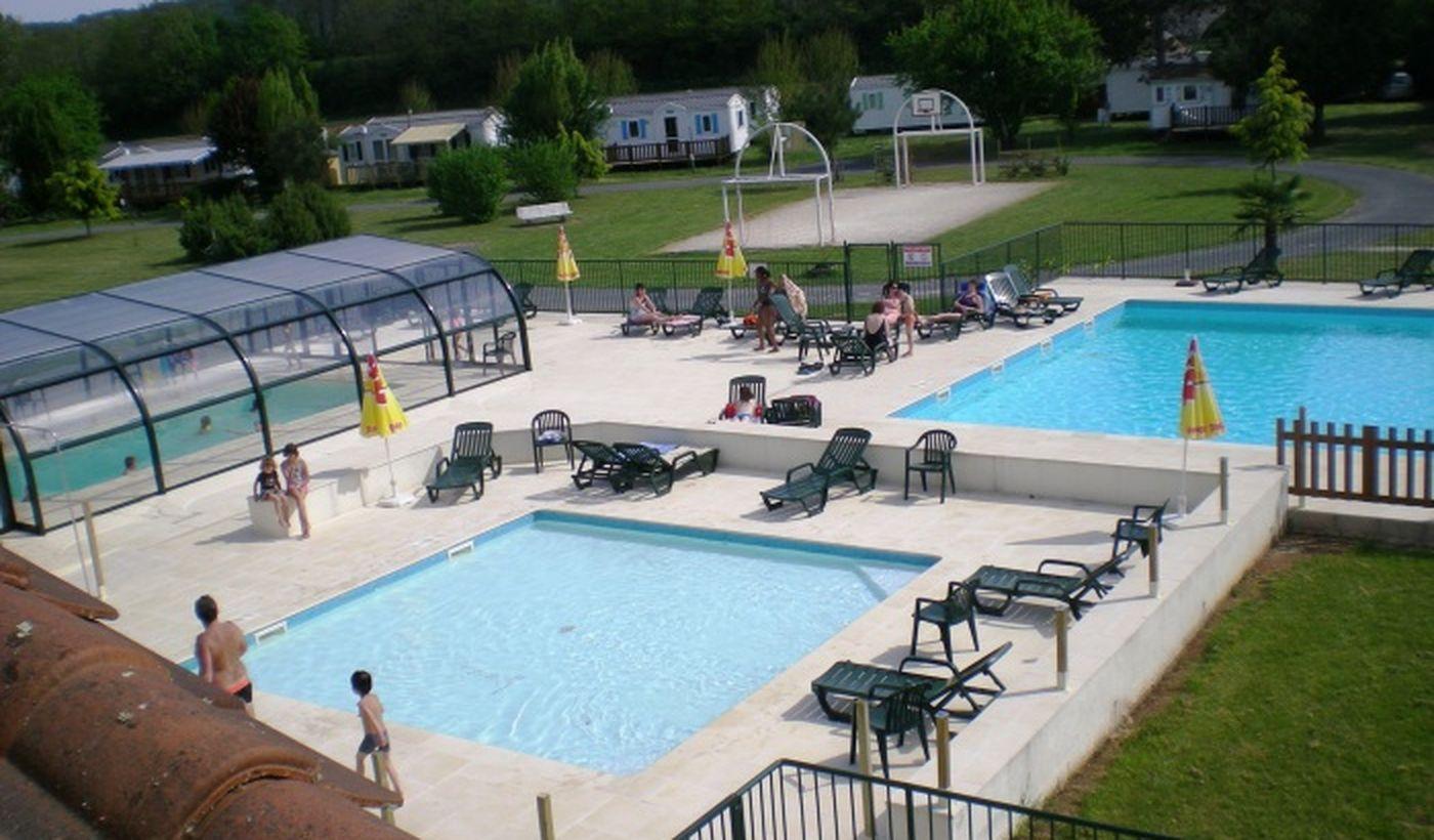 Les trois piscines du Camping Les Trois Caupain
