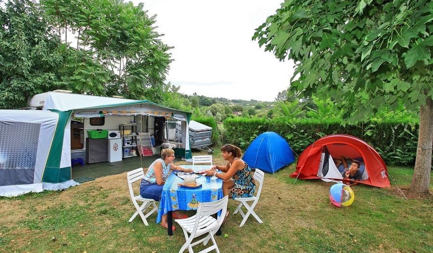 Les emplacements du Camping Les Trois Caupain
