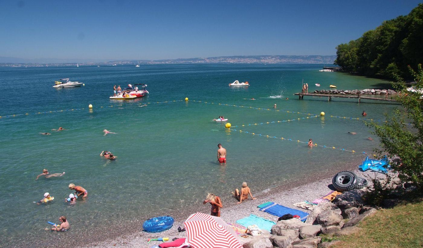 La plage du lac Léman