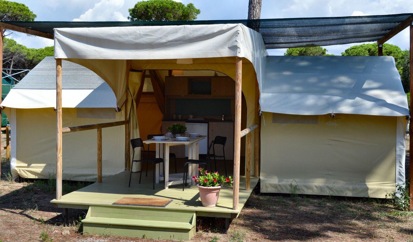 tenda safari con aria condizionata