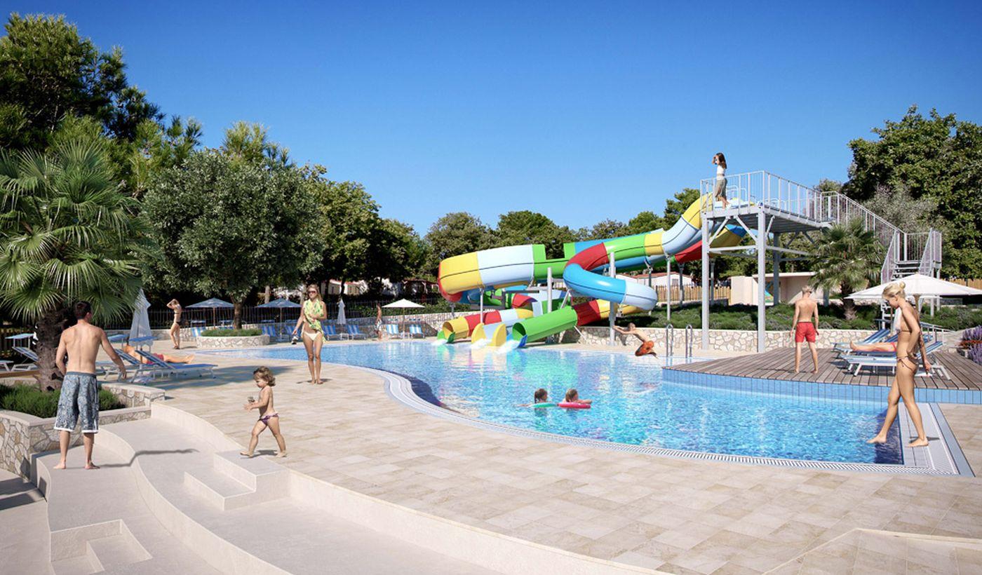 Campeggio con piscine, Croazia