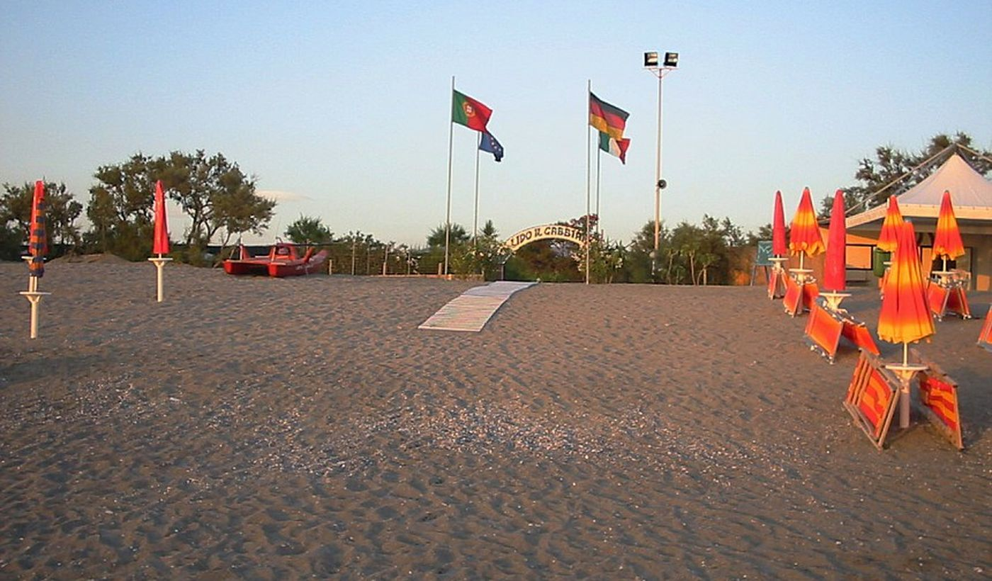 Der Strand von Camping Il Gabbiano