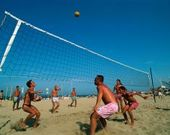 Beach-Volleyball am Strand