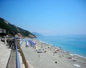 Der Strand von Arenella Camping in Ligurien