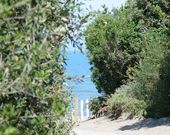 Der Zugang zum Strand