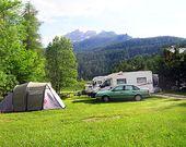 Campingplatz in den Dolomiten
