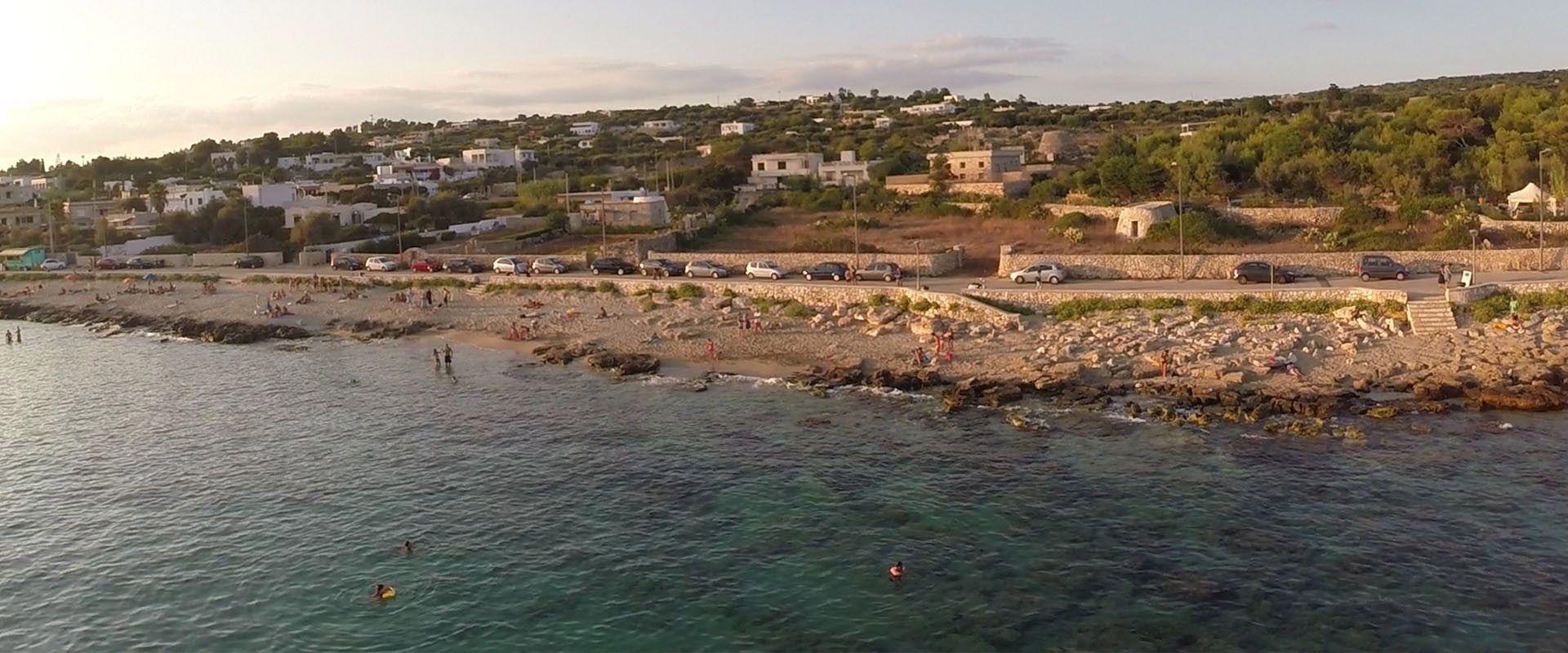 Campsites at the seaside in Puglia
