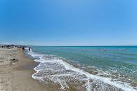 Camping on the beach in Lazio
