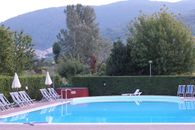 The swimming pool of the camping Village
