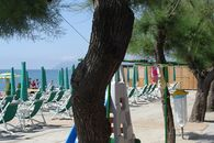 Beach of the camping village in Liguria