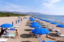 Der Strand des Camping Village Pineta di Sibari