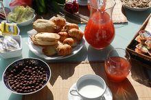 Das Frühstück auf dem Bauernhof