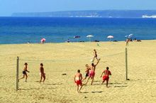 Beach-Volleyball am Strand