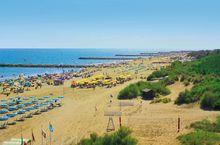 Der Strand des Campings
