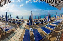 Der Strand in Pietra Ligure, Ligurien