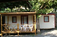 Mobilheime mit Veranda
