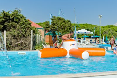Swimming pool with games for children