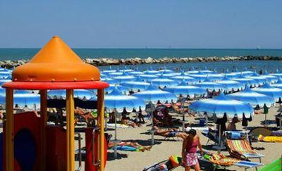 Spiaggia privata sulla Riviera Adriatica
