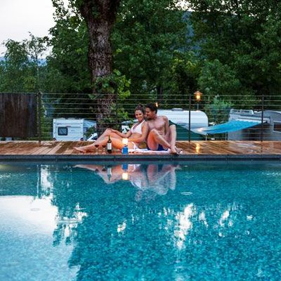 Campeggio con piscina in Trentino