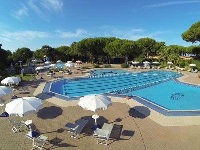 Camping con piscina ad Albinia