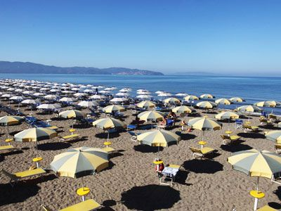 Uitgerust strand in Talamone