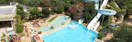 Pools with water slides in Corsica