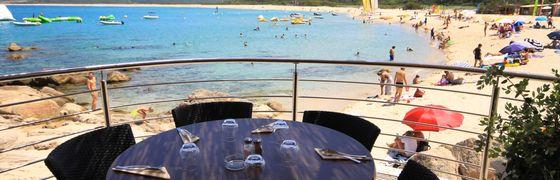 Villaggio con Ristorante sul mare a Belvedere Campomoro