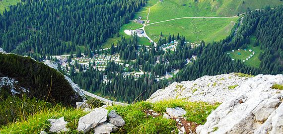 Camping in den Dolomiten