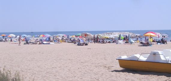 Camping mit freier Strand