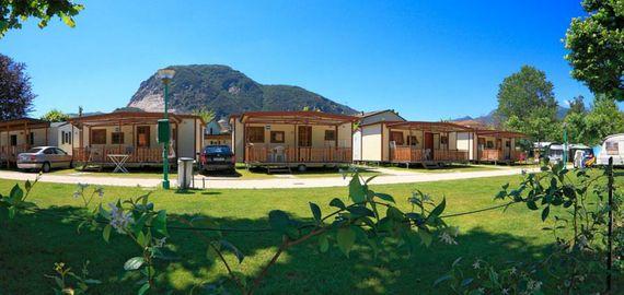 Mobilheime auf dem Lago Maggiore, Piemont