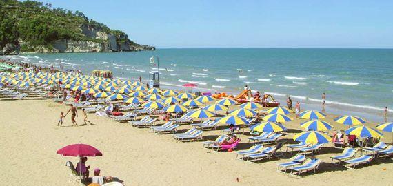 Der Strand in Peschici