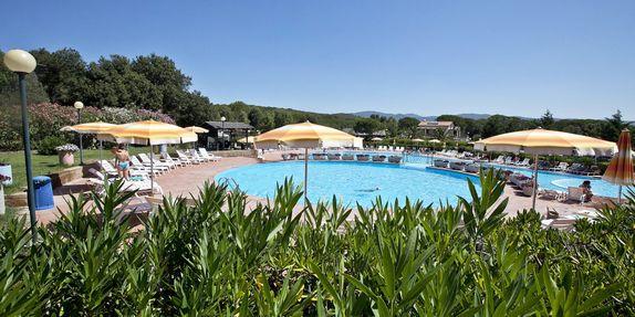 Campeggio con piscina a Castiglione della Pescaia