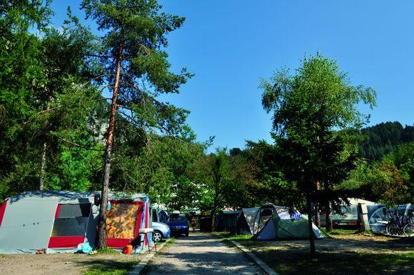 Camping sul lago di Ledro