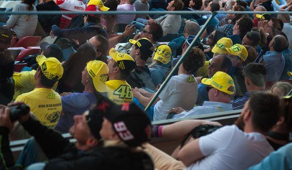 Pubblico all'Autodromo del Mugello per il Gran Premio della MotoGP.