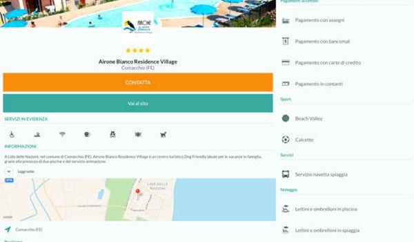Applicazione Campings per smartphone e tablet Android e iOS